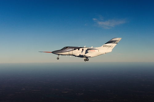 Honda Achieves First Flight of FAA-Conforming HondaJet