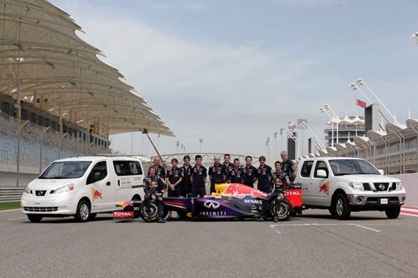during the Infiniti Red Bull Racing filming day at the Bahrain International Circuit on March 3, 2014 in Bahrain, Bahrain.