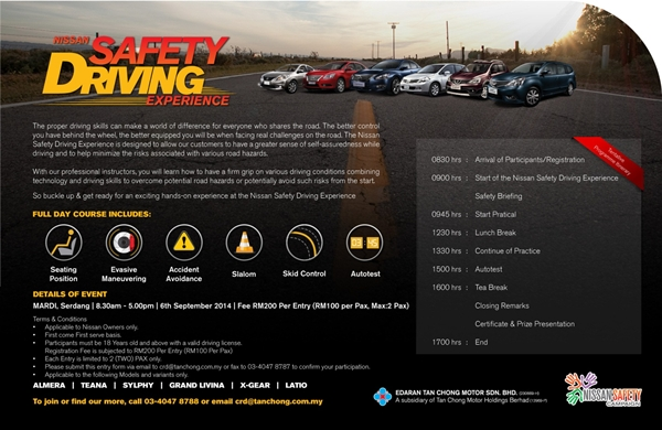 Nissan Safety Driving Experience Invitation