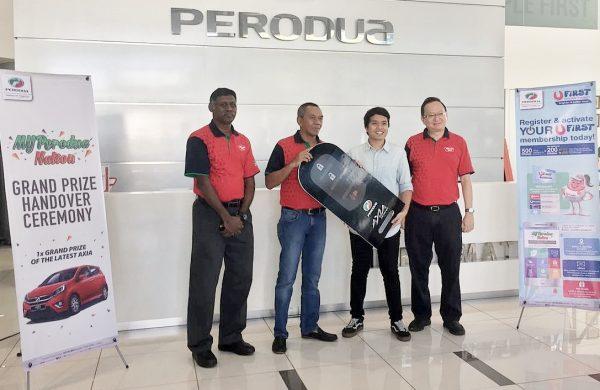 Pelajar kolej menang Perodua Axia sempena karnival MYPerodua Nation